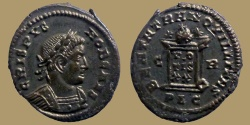 Ancient Coins - CRISPUS - AE Reduced Follis - BEATA TRANQVILLITAS - Lyon mint - RIC.133