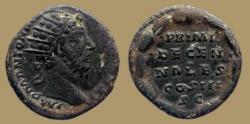Ancient Coins - Marcus Aurelius - AE Dupondius - PRIMI DECENNALES COS III -  Rome