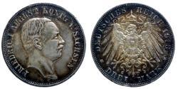 World Coins - Germany - Saxe - Friedrich August III - 3 mark 1913