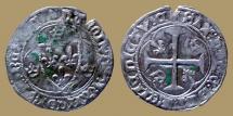 FRANCE - Charles VII - Blanc à l'hexalobe - Chinon mint