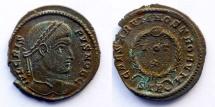 Ancient Coins - CRISPUS - AE reduced follis - CAESARVM NOSTRORVM - Trier mint