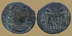 Ancient Coins - DELMATIUS - Æ reduced follis - GLORIA EXERCITVS - Aquileia mint - RIC147 R4