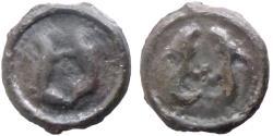 Ancient Coins - GAUL - Suessiones trib - Potin aux animaux affrontés