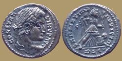 Ancient Coins - Constantine the Great - AE reduced follis - SARMATIA DEVICTA - Lyon