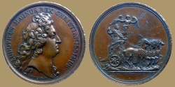 World Coins - Louis XIV - Medal - Campagne d'Allemagne  - no date  (1678)  - rare varity without legend on reverse