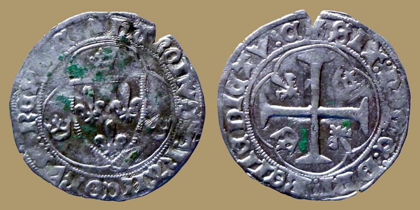 World Coins - FRANCE - Charles VII - Blanc à l'hexalobe - Chinon mint