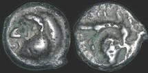 Ancient Coins - Gaul - Haute et Moyenne Seine - potin - Human head