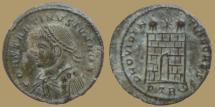 Ancient Coins - Constantinus II Caesar - AE reduced Follis - PROVIDENTIAE CAESS - Trier Mint - RIC.479