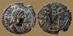 Ancient Coins - Constans - Ae 3/4 - GLORIA EXERCITVS - Trier mint