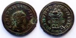 Ancient Coins - Constantine II Caesar - AE Reduced Follis - BEATA TRANQVILLITAS - Lyon mint ric.148 R5