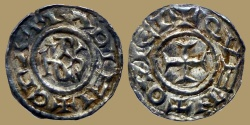 World Coins - FRANCE. Carolingians - Charles the bald - Obol - QUENTOVIC - rare and XF