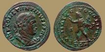Constantine I - AE Follis - SOLI INVICTO COMITI  - Sol with whip - Lyon mint - RIC.VI 312 - scarce