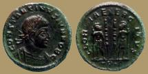 Ancient Coins - Constantine I - AE reduced follis - GLORIA EXERCITVS - Trier - RIC.538