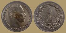World Coins - Denmark - Christian IX - 4 Skilling Rigsmont 1874 CS - Quality - scarce