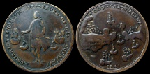World Coins - American colonial - Medal - Capture of Carthagena - Admiral Vernon 1741