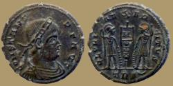 Ancient Coins - Constans - Ae 3/4 - GLORIA EXERCITVS - Trier - RIC. VIII 111 - Large and style