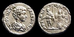 Ancient Coins - GETA - AR Denarius - PRINC IVVENTVTIS - Rome - high relief portrait