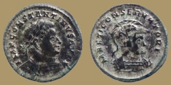 Ancient Coins - CONSTANTINE I - AE Follis - MARTI CONSERVATORI - Mars bust right - Trier mint