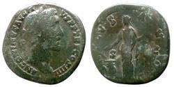 Ancient Coins - ANTONINUS PIUS - AE Sestertius - SALVS AVG - RIC.784