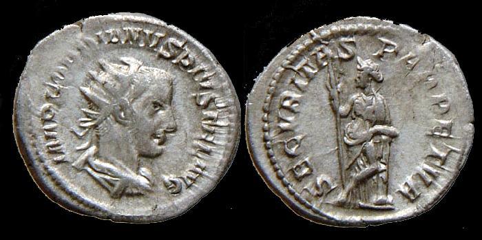 Ancient Coins - Gordianus III - Antoninian - SECVRITAS PERPETVA