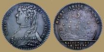 World Coins - FRANCE - AR Jeton - Maria Leczinska - Wife of Louis XV - 1743
