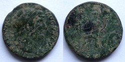 Ancient Coins - HADRIAN - Sestertius - ROMA seated left