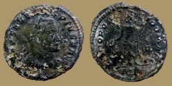 Ancient Coins - SEVERVS II as PIVS AVG  - AE Follis - GENIO POPVLI ROMANI - Trier mint - VERY RARE