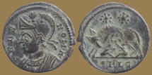 Ancient Coins - Urbs Roma - AE3 – Roma/She-wolf and twins – Lyon mint