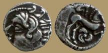 Ancient Coins - GAUL - Uncertain Bituriges Cubi - Carnutes - Pictons  - Drachme au loup - rare