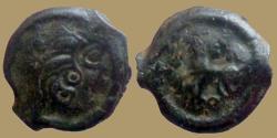 Ancient Coins - GAUL - Uncertain Bituriges Cubi - Potin aux grosses meches - rare