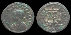 Ancient Coins - Licinius II - AE reduced Follis - VIRTVS EXERCIT - Siscia