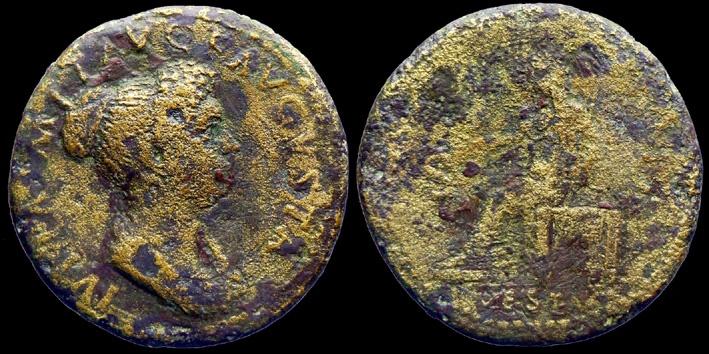 Ancient Coins - JULIA TITI - Dupondius - VESTA