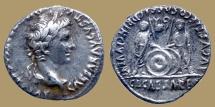 Ancient Coins - Augustus 27BC - 14AD AR Denarius - Caius & Lucius