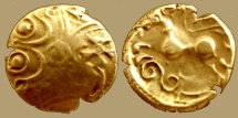 Ancient Coins - Celtic GAUL, Suessiones - AV Stater  - CRICIRV classe II