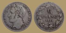 World Coins - Belgium - Leopold I - 1/4 franc 1844