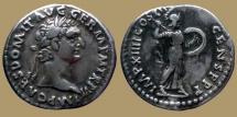 Ancient Coins - DOMITIAN - AR Denarius - Minerva- RIC.454 Rare
