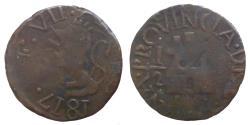 World Coins - Venezuela - Spanish Guyana - Ferdinand VII - 1/2 Real 1817 - KM.41.2