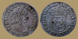 World Coins - FRANCE - Louis XIV - 1/4 écu 1644 A point (dot)