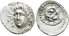 Ancient Coins - CARIA. Rhodes. Drachm (Circa 88/42 BC-AD 14). Skos -, magistrate.