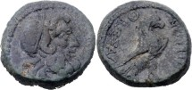 Ancient Coins - MACEDON - THESSALONICA - Ae - HEAD OF ZEUS - EAGLE