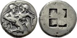 Ancient Coins - THRACE. Thasos. Stater (Circa 500-480 BC).