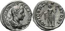 Ancient Coins - SEVERUS ALEXANDER - DENARIUS - IOVI CONSERVATORI - JUPITER WITH THUNDERBOLT
