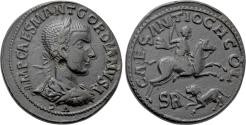 Ancient Coins - A Large Roman Imperial Coin with a Lively Hunting Scene