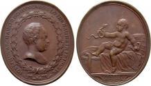 World Coins - RÖMISCH-DEUTSCHES REICH. Habsburg. Maria Theresia (1740-1780). Auf die Geburt Erzherzog Josefs. Kupfermedaille (1741) von D. Becker.
