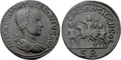Ancient Coins - A Large Roman Imperial Coin with a Adventus Scene