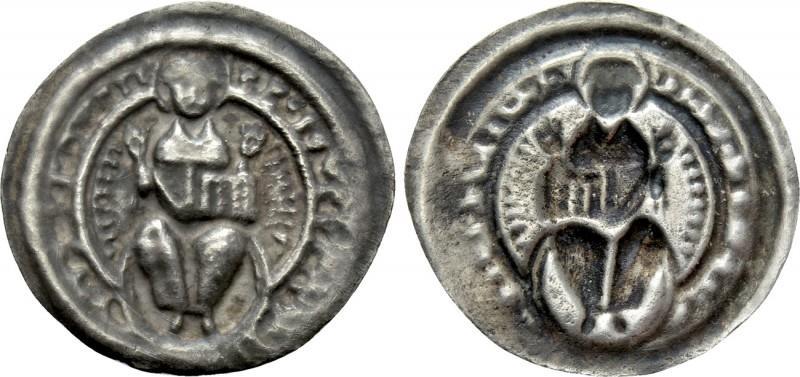 World Coins - GERMANY. Halberstadt (Bistum). Ulrich I von Reinstein (1149-1160). Bracteat.