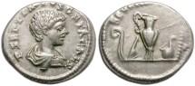 Ancient Coins - GETA. SILVER DENARIUS. ATTRACTIVE COIN.