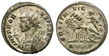 Ancient Coins - PROBUS. AD 281. ANTONINIAN. ROME.  EXREMELY FINE.  MUCH SILVERING REMAINING.