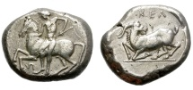 Ancient Coins - KELENDRIS. 425-400 BC. STATER. GOOD QUALITY. NICE REVERSE.
