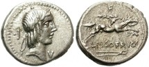 Ancient Coins - ROMAN  REPUBLIC. CALPURNIA.  SILVER  DENARIUS. BEAUTIFUL AND CENTERED COIN.